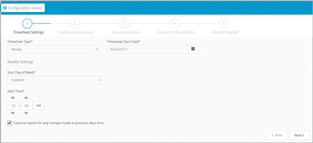 Setting Hour Timesheet Preferences Screenshot