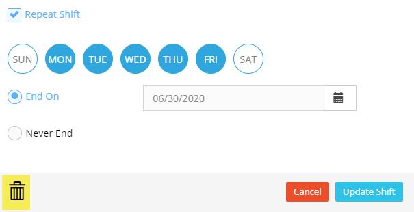 Delete Schedules